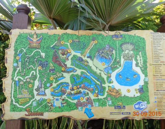 Siam Park: Карта Сиам-парка