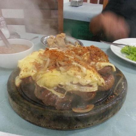 Restaurante do Romeu: picanha tcom queijo e alho