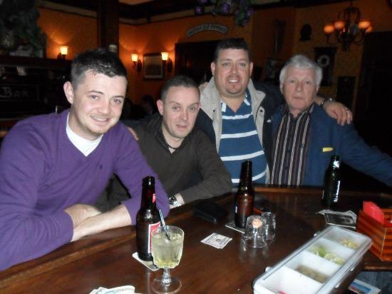 Gildea's Restaurant: The Murphy Clan enjoy a pint.