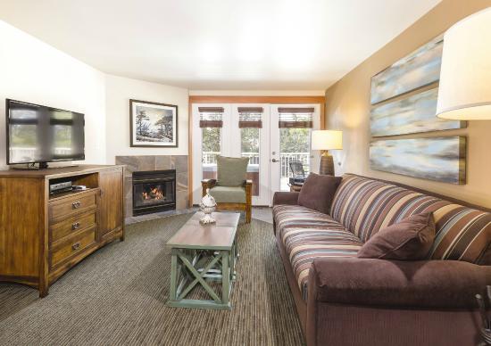 Deer Harbor, Ουάσιγκτον: 1 Bedroom Living Room