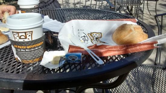 Le Pain Quotin French Baguette With Er And American Coffee