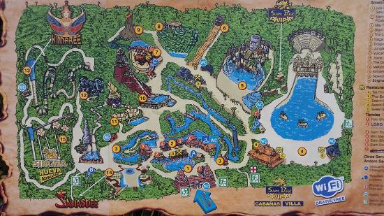 Siam Park: Map of Rides