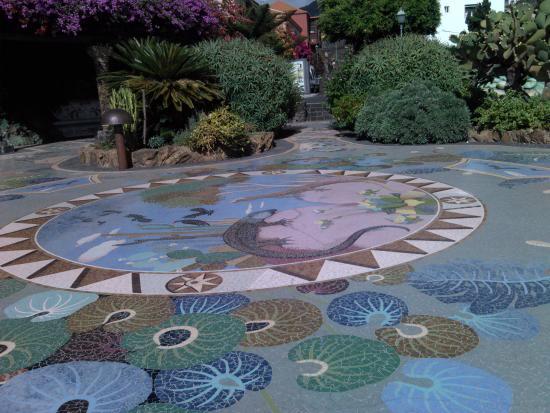Las Manchas, Spanyol: mosaicos en el suelo