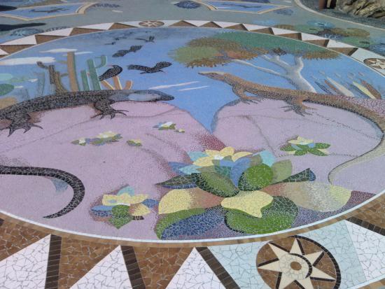 Las Manchas, Spania: mosaicos en el suelo