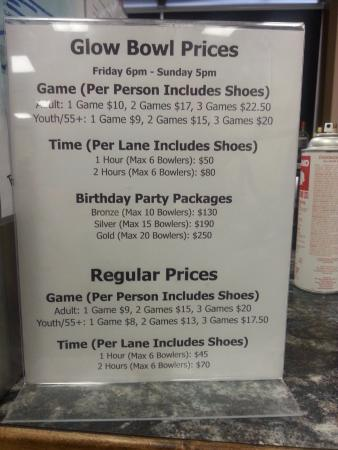 Fort Saskatchewan, Canada: A price list