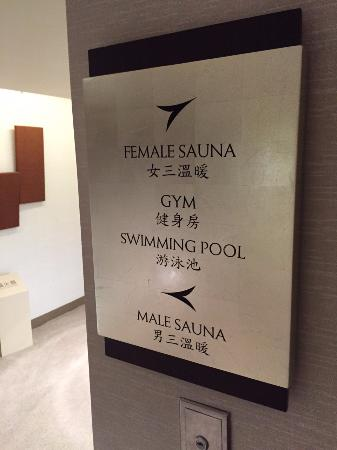 Sheraton Grand Taipei Hotel Direction Of Sauna And Pool