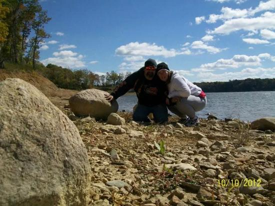By the lake - Picture of Raccoon Lake State Recreation Area