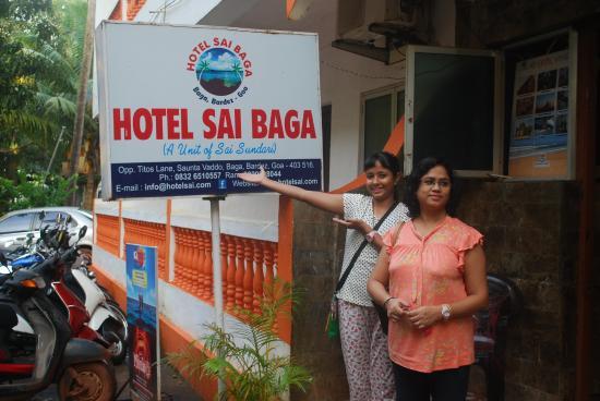 at the hotel door picture of oyo 10227 sai baga baga tripadvisor rh tripadvisor in