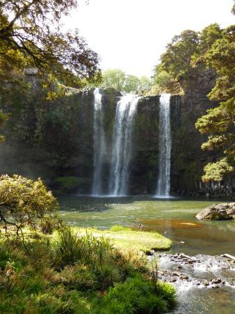Whangarei, Nueva Zelanda: Falls rom the bridge over the creek