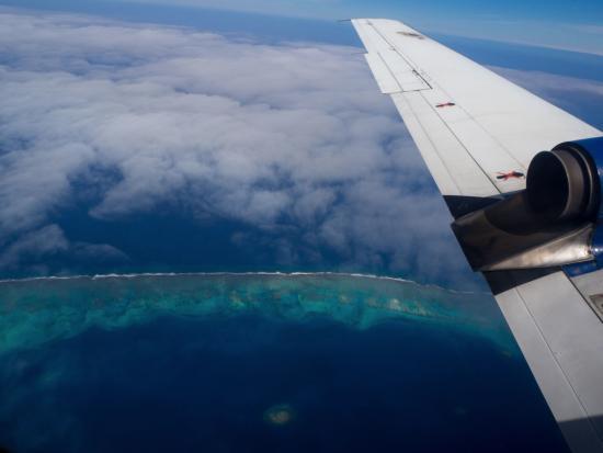Uoleva Island, Tonga: Flying in