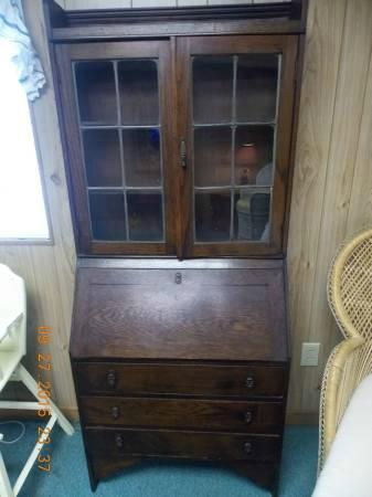 antique home drop design visual secretary hutch hunt with desk front