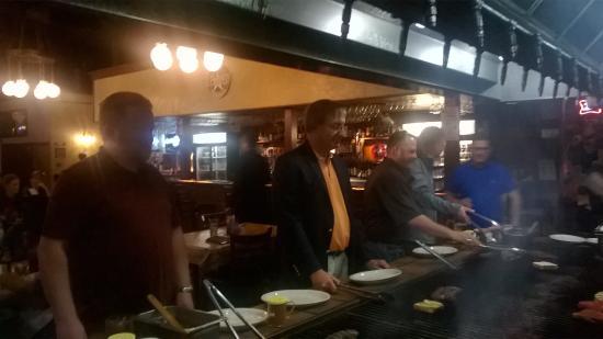Alexander's Steakhouse: at the bar b q