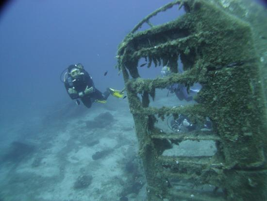 Turihan Beach Hotel: Diving a plane wreck off Bodrum