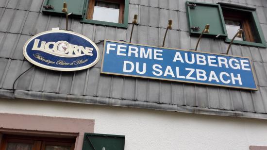 Ferme Auberge du Salzbach: L'enseigne de la ferme auberge