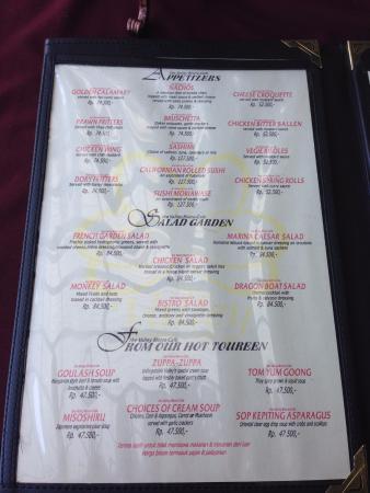 menu picture of the valley bandung tripadvisor rh tripadvisor ie