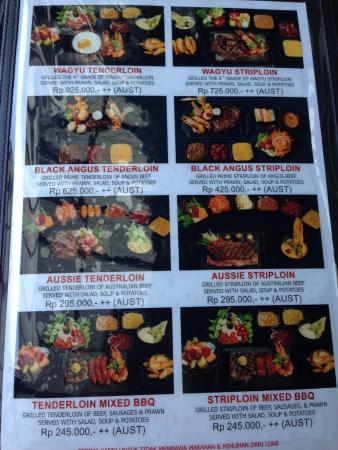 menu picture of the valley bandung tripadvisor rh tripadvisor in
