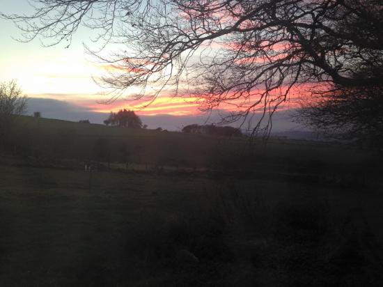 Brechfa, UK: Sunset viewed from rear of Hay Barn
