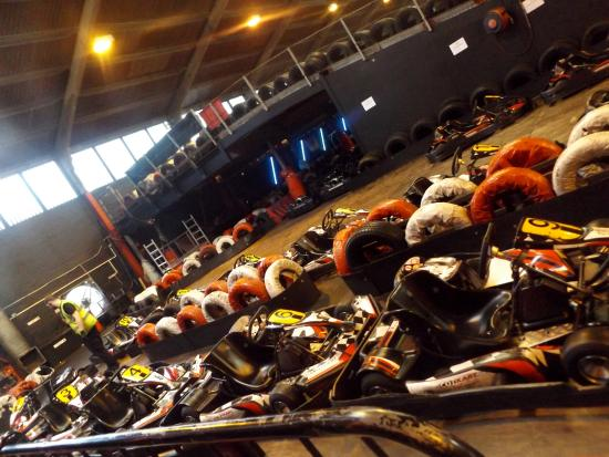 Cambuslang, UK: the karts