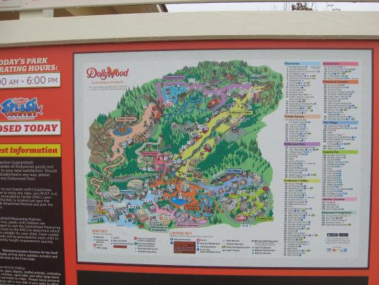 Map of Grounds - Picture of Dollywood, Pigeon Forge - TripAdvisor Dollywood Map on