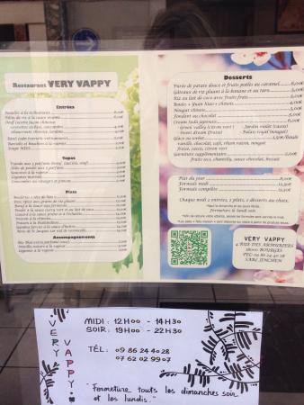 mega cgr la carte La carte alléchante   Picture of Le Very Vappy, Bourges   Tripadvisor