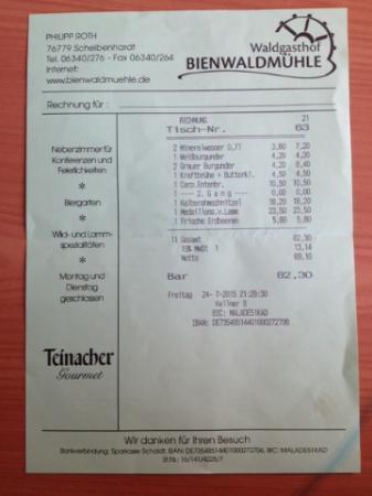 Scheibenhardt, Deutschland: Rekening