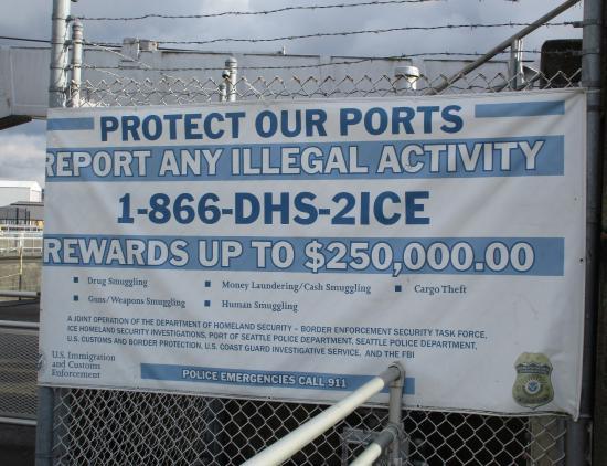 Hiram M. Chittenden Locks: Report illegal activity, Ballard Locks, Nov. 3, 2015