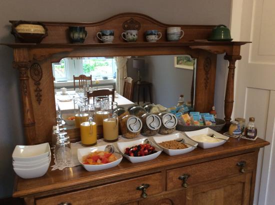 Gardenrose B&B: Breakfast selection