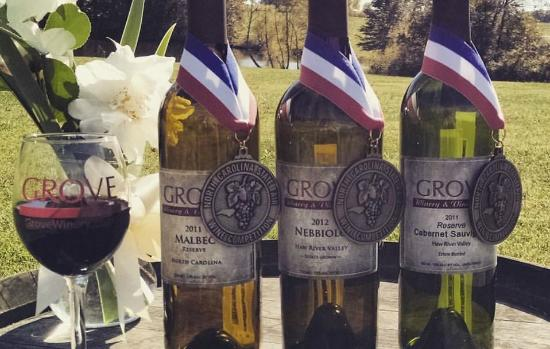 Gibsonville, Северная Каролина: Three 2015 Gold Medal Winners in the NC Wine Competition