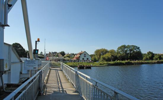 Cafe with adjacent bridge