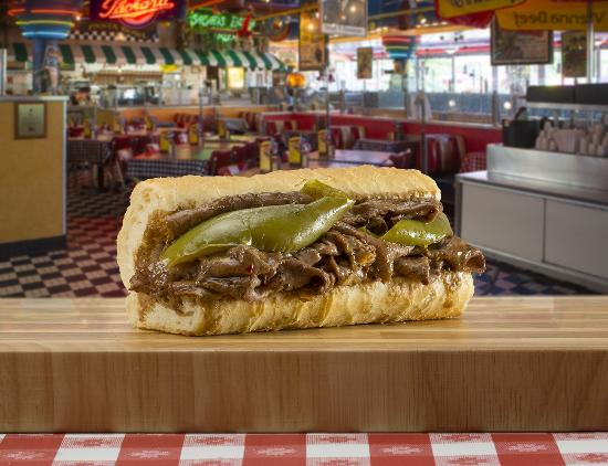 Glendale Heights, IL: Italian Beef with home-cooked sweet peppers