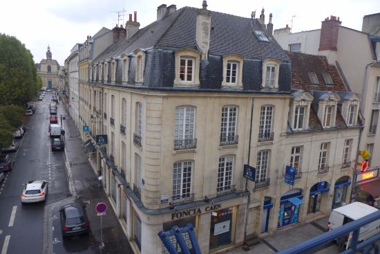 view of street below from our 3rd floor room picture of royal hotel caen centre caen. Black Bedroom Furniture Sets. Home Design Ideas