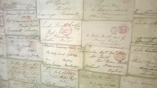 Very Interesting Wallpaper Consisting Of Old Letters Picture Of