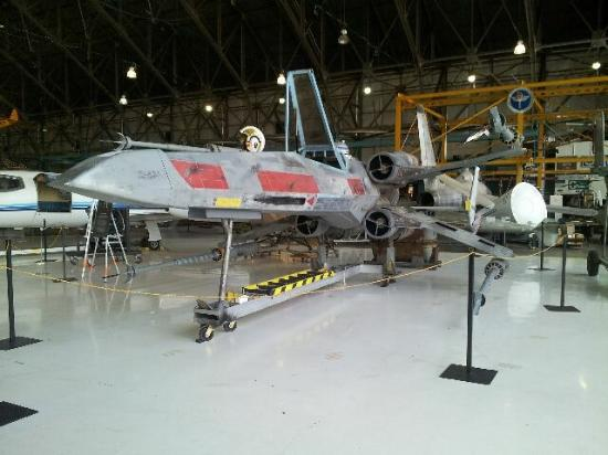 Star wars x wing fighter picture of wings over the for Star wars museum california