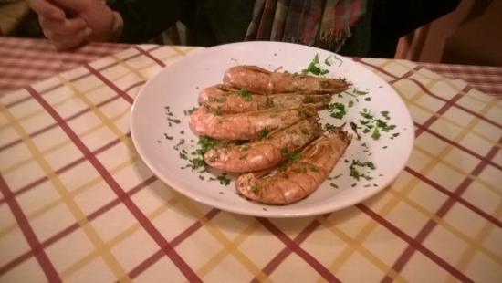 La Chicca B&B: Big prawns