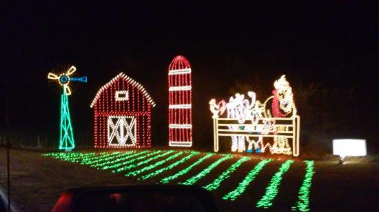 James Island County Park: one of the first lights display is the farm, really