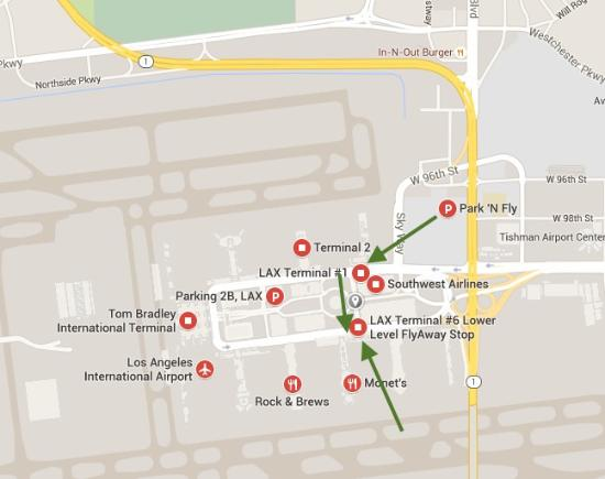 LAX Terminal map - Bild von Crowne Plaza Los Angeles International on