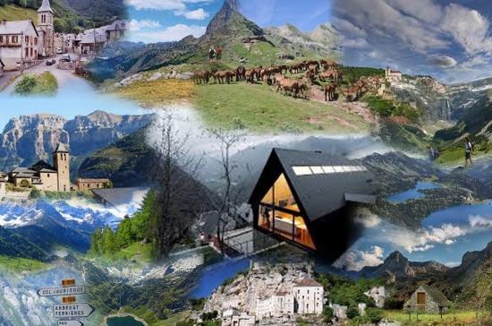 Pyrenees National Park (Parc National des Pyrenees): A photomix of National Parc of Pyreneess