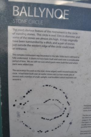 Ballynoe Stone Circle : Information board.