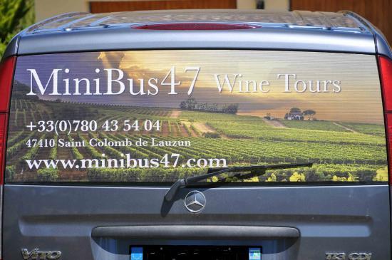 Saint Colomb de Lauzun, ฝรั่งเศส: Our 8 seater minibus