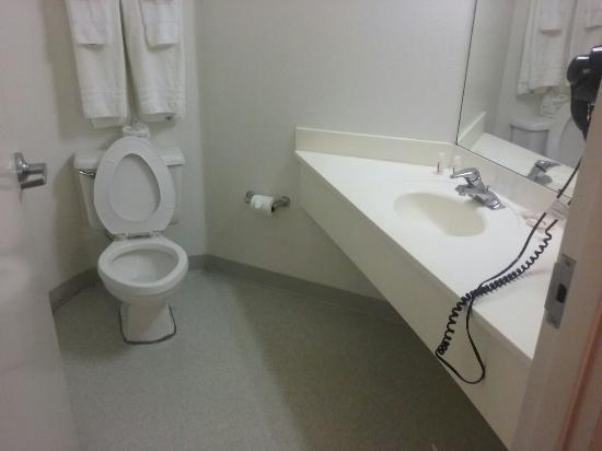 De invalide badkamer groot maar met een vreemd gevoel er in ...