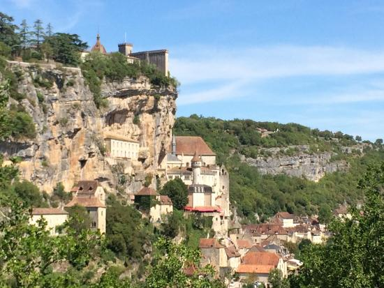 Cabrerets, Frankrig: Nearby village of Rocamadour