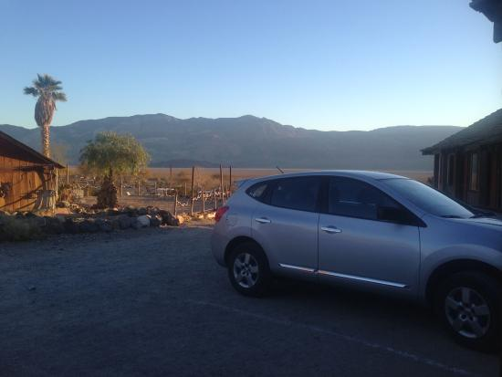Panamint Springs Resort: Outside of room...perfect view for coffee