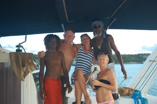 Simpson Bay, St. Maarten-St. Martin: The gang.