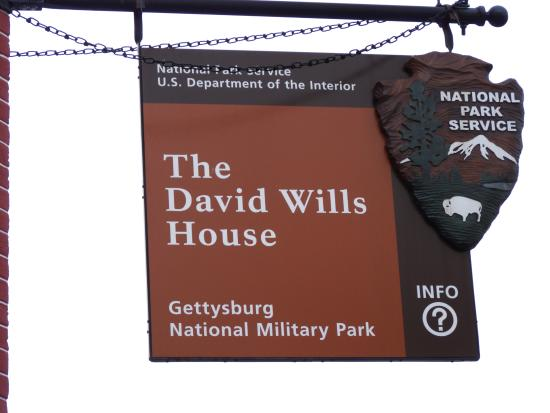 David Wills House: Sign