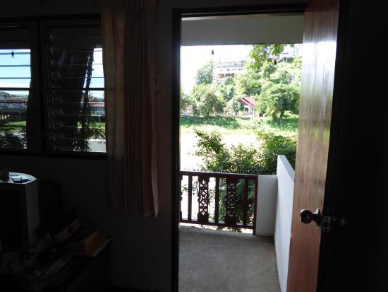 Thaton Garden Riverside : View out of veranda door