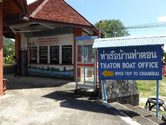 Thaton Garden Riverside : Boat to Chiang Rai office
