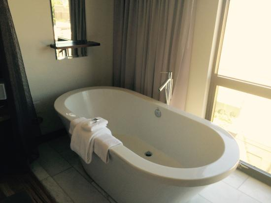 Oversized soaking tub in the bedroom! - Picture of Andaz Napa, Napa ...