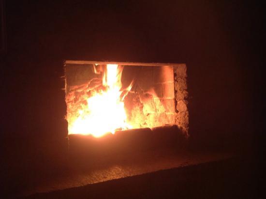 La Fonda Hotel, Restaurant and Spa: Fireplace in Room #21