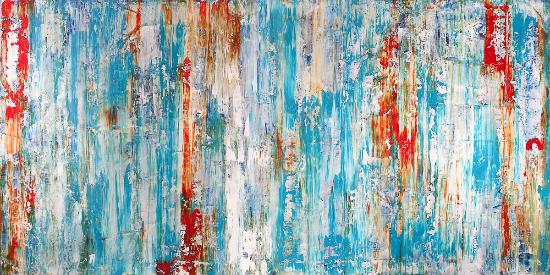 Artspace Warehouse: Venice Blues II, modern art by Clara Berta