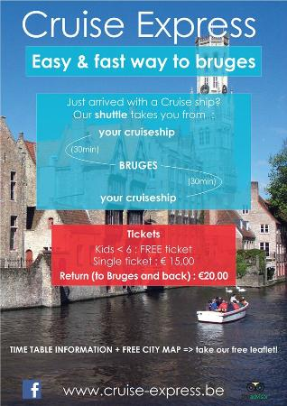 Cruise Express Bruges shuttle information Picture of Cruise
